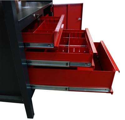 Etabli 120 cm - 3 tiroirs - 1 porte
