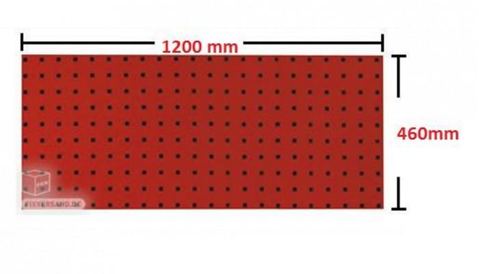 Panneau porte outils 1200 mm rouge
