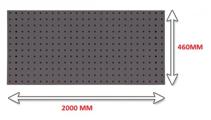 Panneau porte outils 2000 mm anthracite