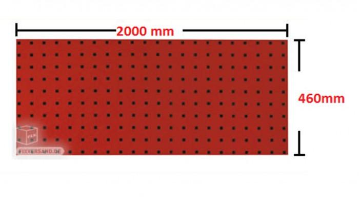 Panneau porte outils 2000 mm rouge
