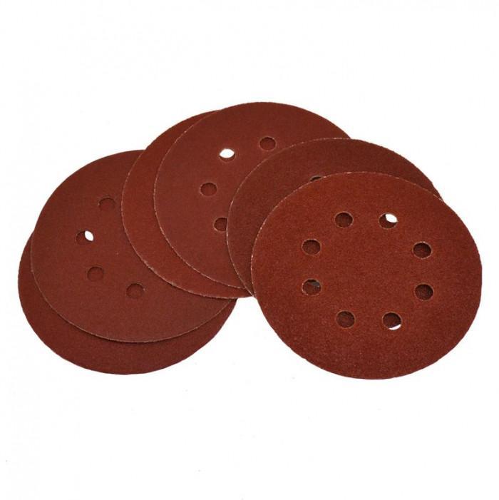 Disques abrasifs 100/120/180 pour G58130 et G58523 - lot de 6