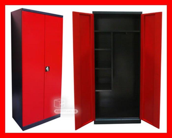 armoire produits d 39 entretien ou vestiaire rouge et noire mobilier d 39 atelier. Black Bedroom Furniture Sets. Home Design Ideas