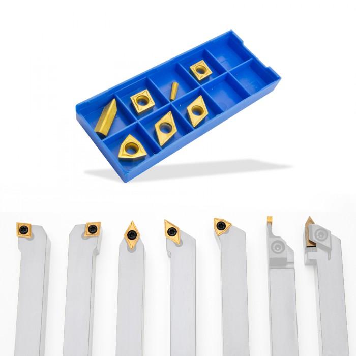 Plaquettes de rechange pour outils tour à métaux D18493 et D18494