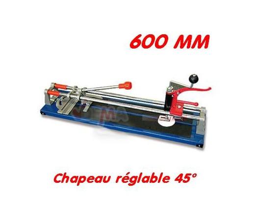 Carrelette 600 mm - Chapeau réglable 45°