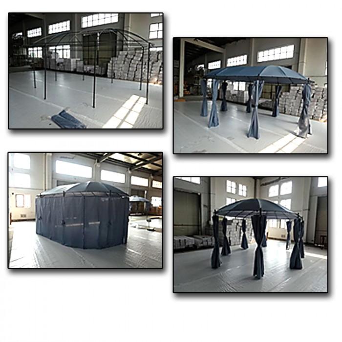 """Tonnelle - Pavillon """"ANCONA"""" OVAL 3,5 x 5,3 m"""