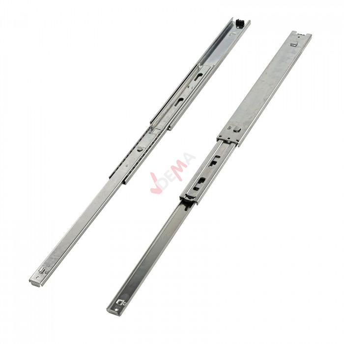Rails glissière télescopique 2 pièces pour tiroir 400 mm D99010
