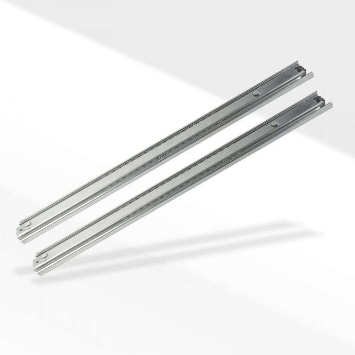rails glissiere telescopique 2 pieces pour tiroir 350 mm. Black Bedroom Furniture Sets. Home Design Ideas