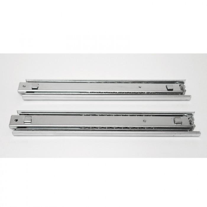 Rails glissière télescopique 2 pièces pour tiroir 300 mm