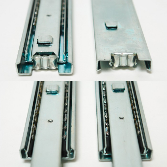 rails glissi re t lescopique 2 pi ces pour tiroir 300 mm. Black Bedroom Furniture Sets. Home Design Ideas