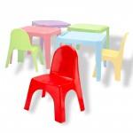 Chaise pour enfants en pvc rouge