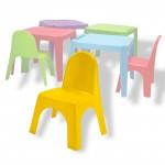 Chaise pour enfants en pvc jaune