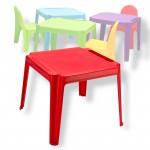 Table pour enfants en PVC rouge
