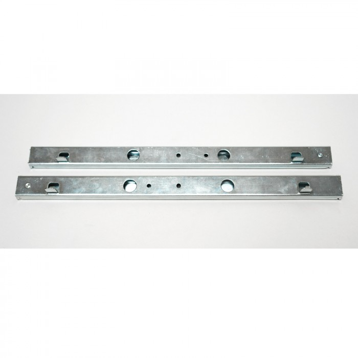 Rails glissière télescopique 2 pièces pour tiroir 350 mm double course