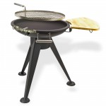 Barbecue rond grille tournante nevada