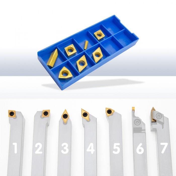 Plaquettes de rechange pour outils tour à métaux 16 mm D20347