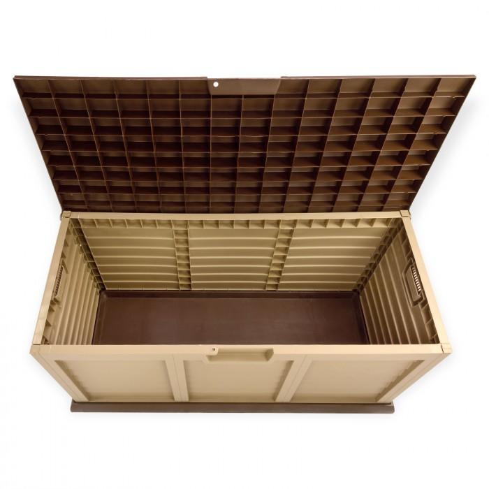 Coffre de jardin 390 L couleur chocolat crème