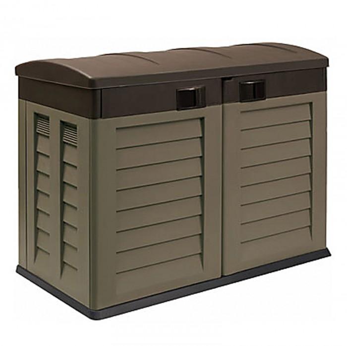 Abri rangement de jardin coffre cache poubelle 240 for Rangement pour poubelle exterieur