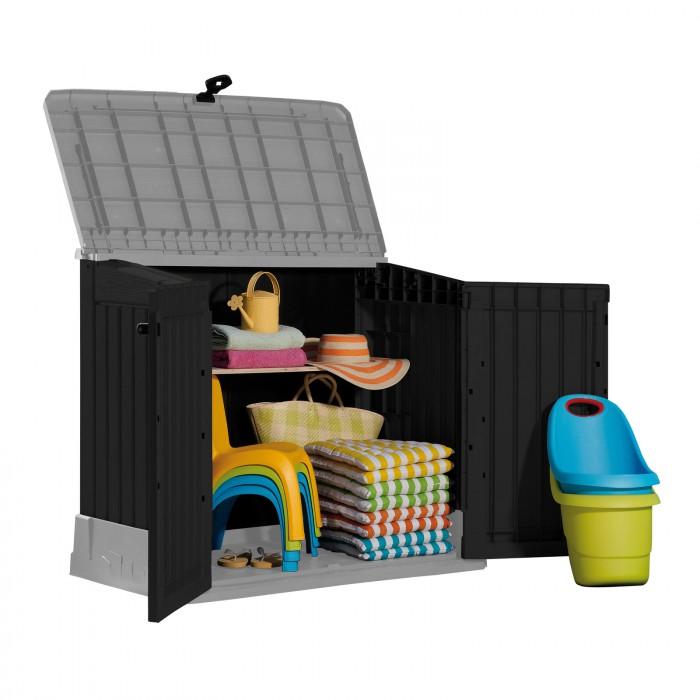 Abri rangement de jardin / coffre / cache poubelle woodland 845 l