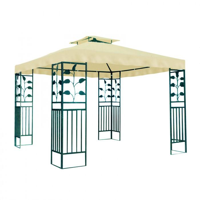 tonnelle pavillon m tallique 3 x 3 m plein air camping. Black Bedroom Furniture Sets. Home Design Ideas