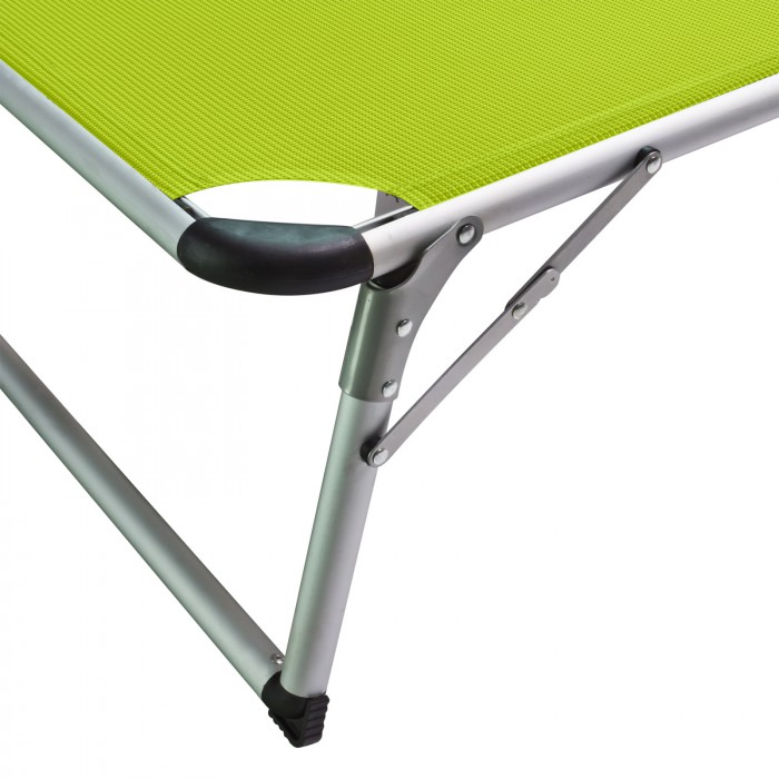 """Chaise longue transat avec pare-soleil vert anis """"Colorado Springs"""""""