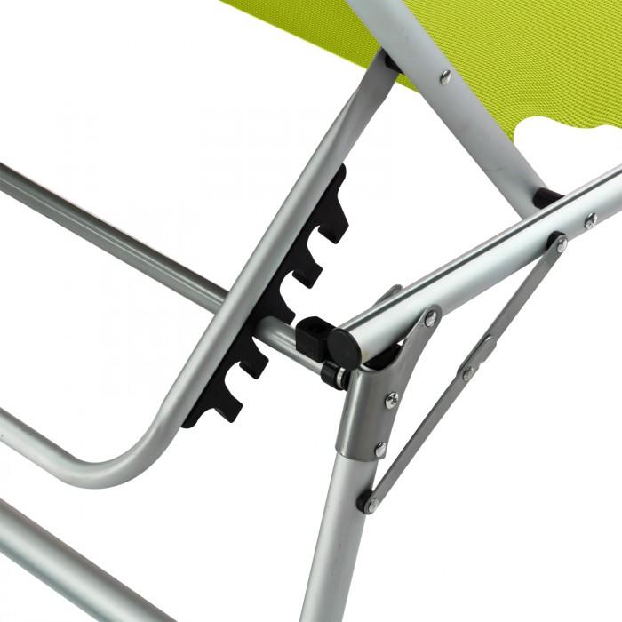 chaise longue transat avec pare soleil vert anis colorado springs plein air camping. Black Bedroom Furniture Sets. Home Design Ideas