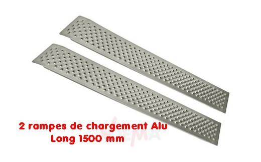 Rampes de chargement - déchargement Alu - Long 1500 mm - la paire