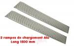 Rampes de chargement - déchargement Alu - Long 1500 mm