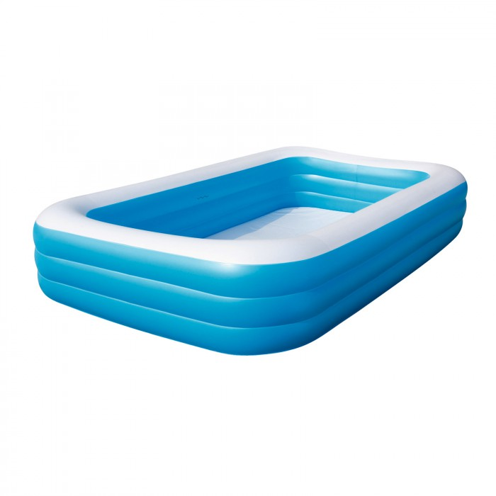 Piscine gonflable rectangulaire 305 x 183 x 56 cm plein for Piscine gonflable rectangulaire