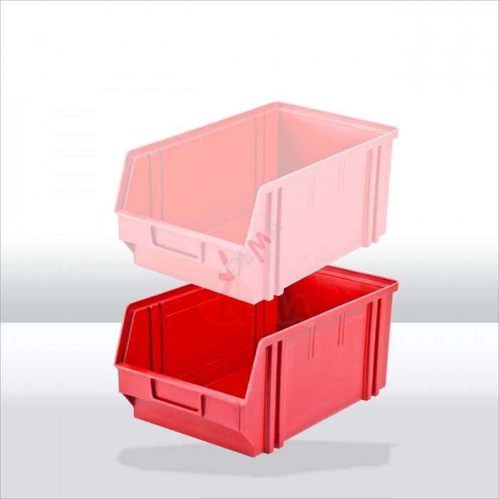 Bac à bec - bac de rangement 205 x 335 x 150 mm rouge