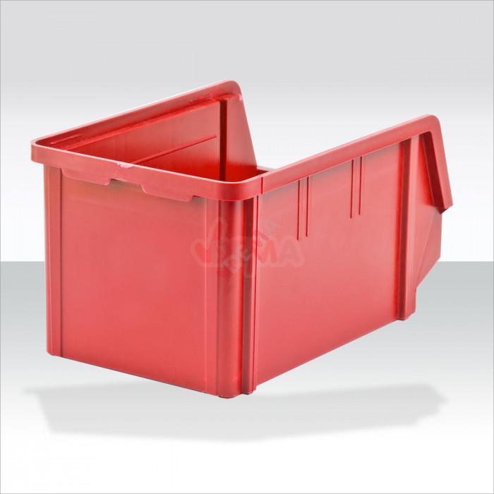 Bac à bec - bac de rangement 146 x 237 x 124 mm rouge