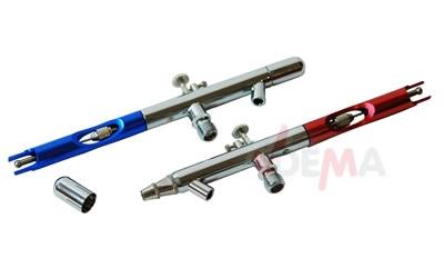 Pack 6 pistolets AIRBRUSH + accessoires métal chromé aiguille inox