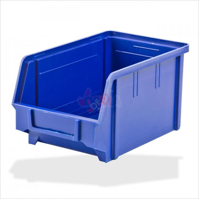 Bac à bec - bac de rangement 146 x 237 x 124 mm bleu