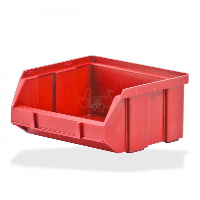 Bac à bec - bac de rangement 100 x 95 x 50 mm rouge