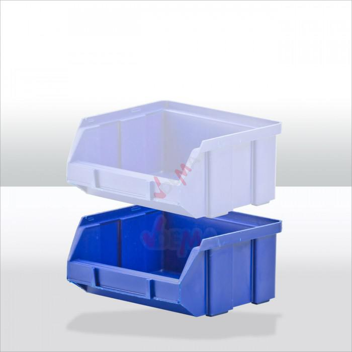 Bac à bec - bac de rangement 100 x 95 x 50 mm bleu