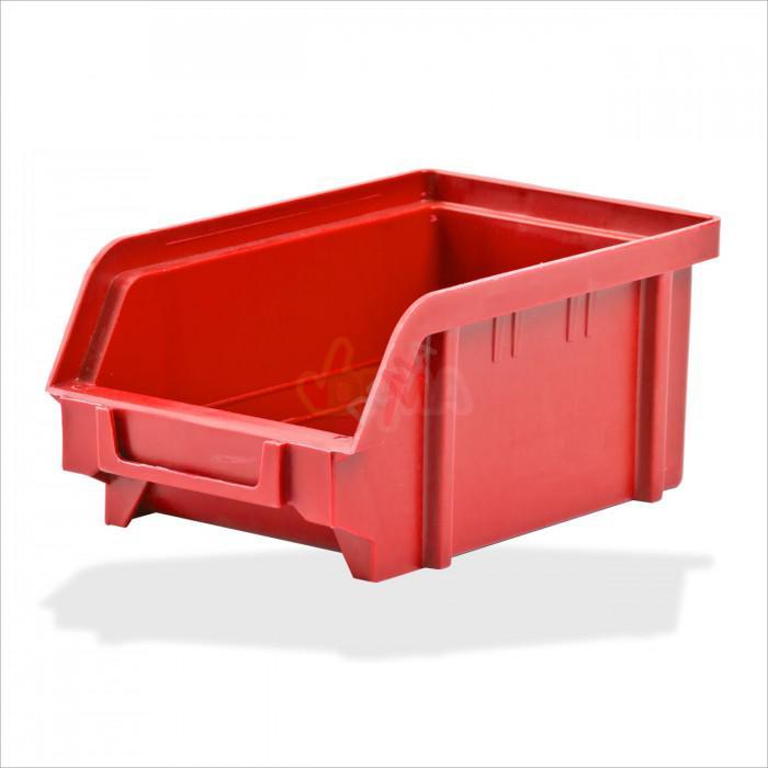 Bac à bec - bac de rangement 103 x 166 x 73 mm rouge