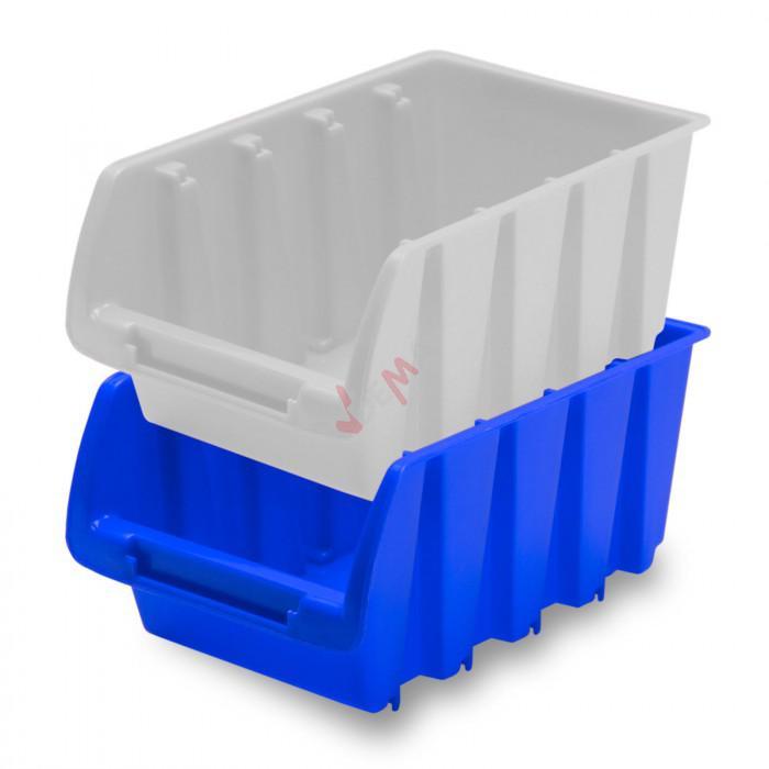 Bac à bec - bac de rangement 105 x 165 x 75 mm bleu