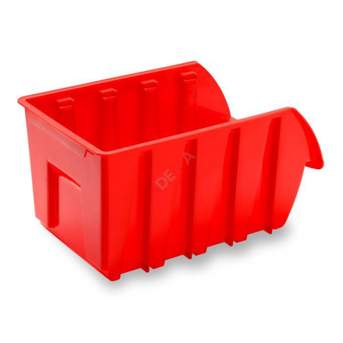Bac à bec - bac de rangement 105 x 165 x 75 mm rouge