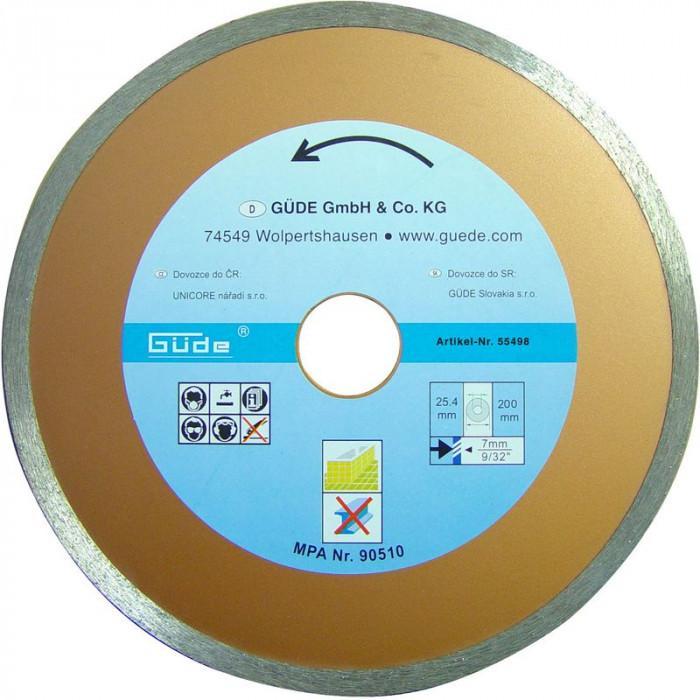Disque diamant 200 mm - Pour scie coupe carreaux G55374