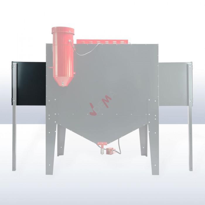 Extension - Elargisseur droit pour cabine de sablage / sableuse D24281
