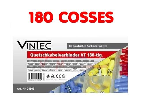 Assortiment cosses à sertir - 180 pièces - VINTEC