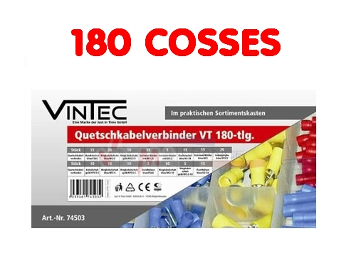 Assortiment cosses à sertir - 180 pièces en coffret - VINTEC