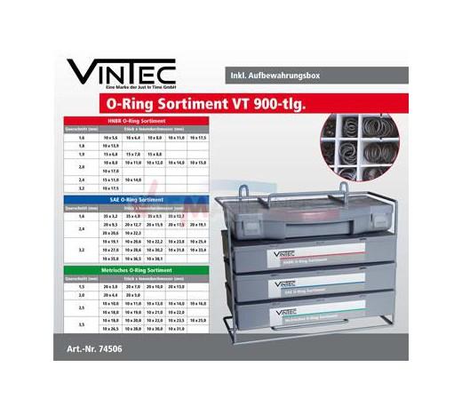 VINTEC - Assortiment de joints toriques - 900 pièces