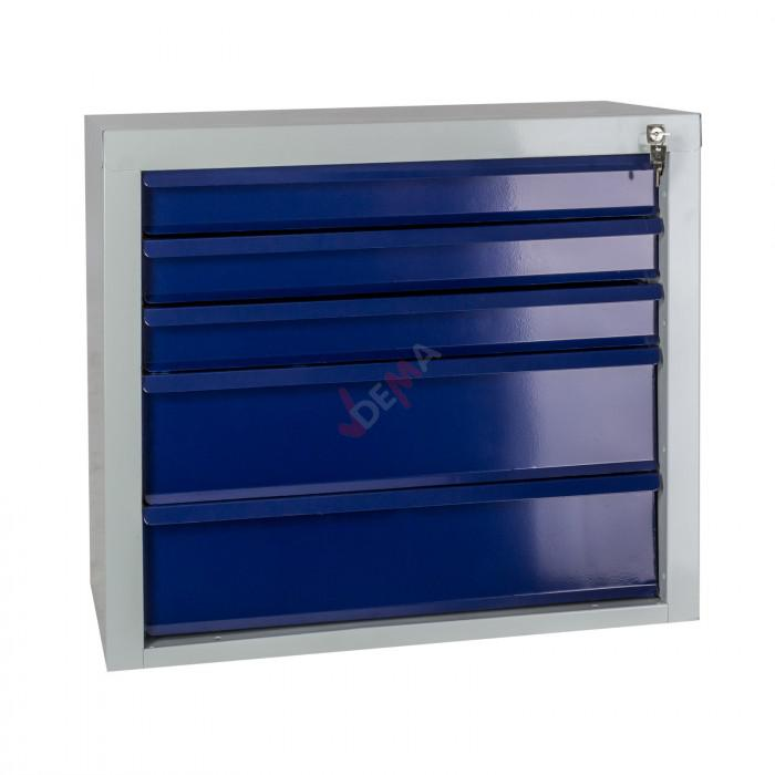 "Armoire servante ""Fernando"" 5 tiroirs - Bleu"