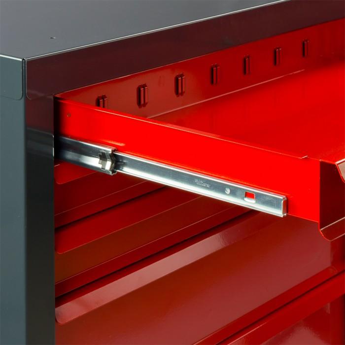 """Armoire servante """"Fernando"""" 7 tiroirs - Rouge"""