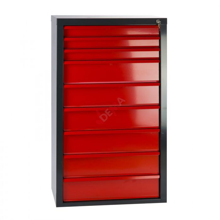 armoire servante fernando 9 tiroirs rouge mobilier d. Black Bedroom Furniture Sets. Home Design Ideas