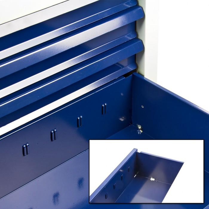 "Armoire servante ""Fernando"" 7 tiroirs - Bleu"