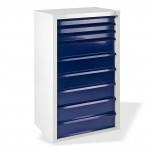"Armoire servante ""Fernando"" 9 tiroirs - Bleu"