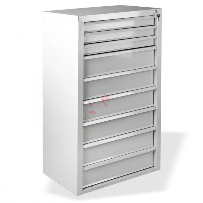 Armoire servante fernando 9 tiroirs gris clair d24782 for Garage a domicile 78