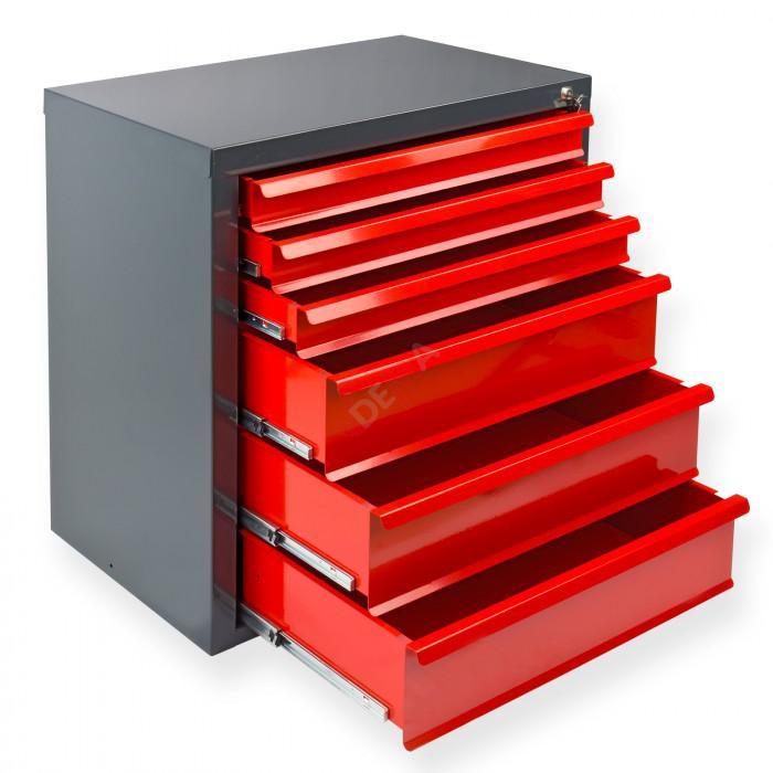 """Armoire servante """"Fernando"""" 6 tiroirs - Rouge"""