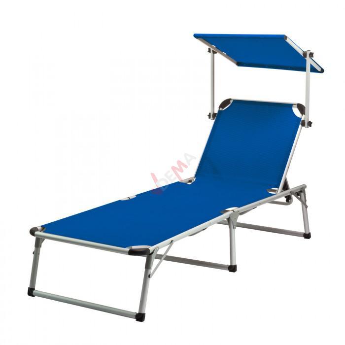 """Chaise longue """"Colorado Springs"""" - Transat + pare-soleil"""